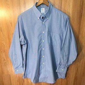 Brooks Brothers blue button down dress shirt